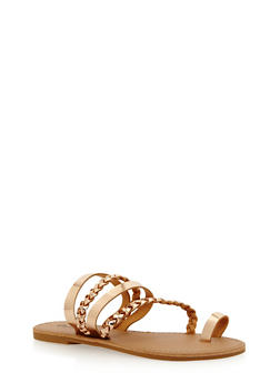 Braided Toe Ring Sandals - 1110029912733