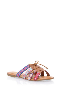 Lace Up Slide Sandals - 1110056637606