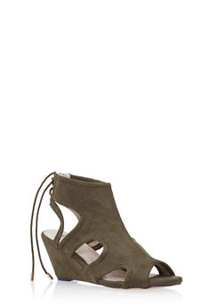 Wedge Sandals with Sculptural Cutouts - 1110057181681