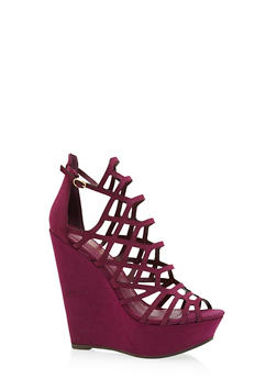 Caged Cut Out Wedges - 1110065488486