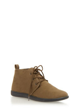Flat Desert Boot in Brushed Suede - OLIVE - 1110068757225