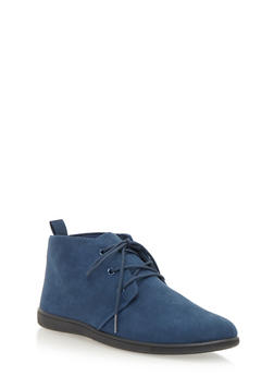 Flat Desert Boot in Brushed Suede - NAVY - 1110068757225