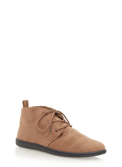 Flat Desert Boot in Brushed Suede - TAUPE - 1110068757225
