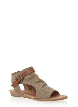 Hooded Cutout Sandals - BROWN GAUCHO - 1110073326421