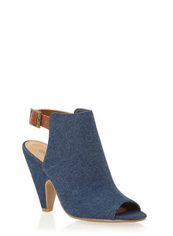 Cutout Ankle Boots with Tapered Heels - 1111004063384