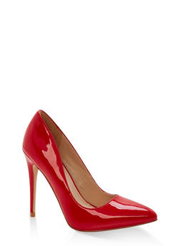 Pointed Toe Stilettos - RED PATENT - 1111004064424