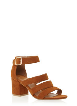 Sandals with Chunky Block Heels - 1111004064440