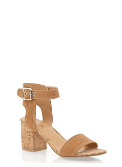 Sandals with Chunky Block Heels - 1111004064441