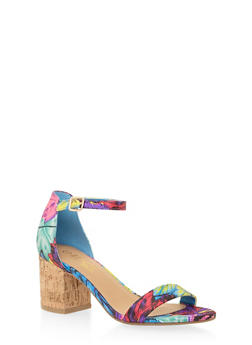 Sandals with Chunky Block Heels - 1111004064444