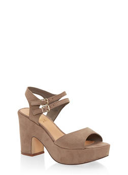 Platform Sandals with Double Ankle Strap - 1111004067740