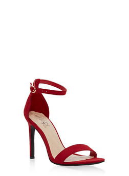 High Heel Ankle Strap Sandals - RED F/S - 1111004068463