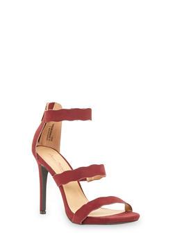 Wavy Strap Sandals - 1111014067876