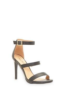Strappy High Heel Sandals - 1111014067877