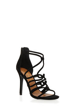 Strappy Sandals with Stiletto Heels - 1111062862667