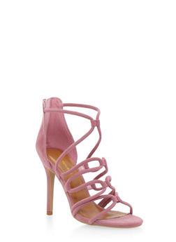 Strappy Sandals with Stiletto Heels - 1111062862667