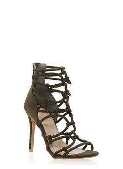 Strappy High Heel Sandals - 1111062862974