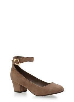 Pointed Toe Ankle Strap Heels - 1111065485355