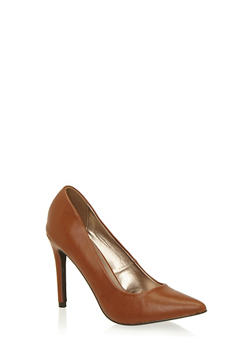 Pumps with Pointed Toes and Stiletto Heels - 1111065485935