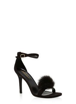 High Heel Stilettos with Pom Pom Detail - 1111065487936