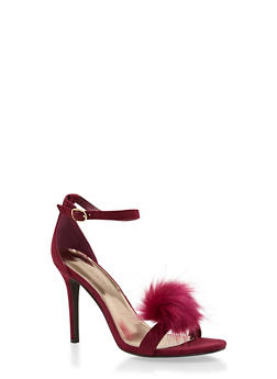 High Heel Stilettos with Pom Pom Detail - 1111065487936