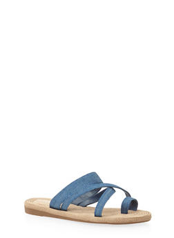 Flat Sandals with Criss Cross Straps - 1112004062840