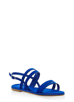 Strappy Sandals - COBALT S - 1112004063285