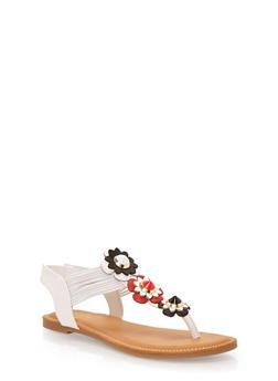 Flower Thong Sandals - 1112004067864