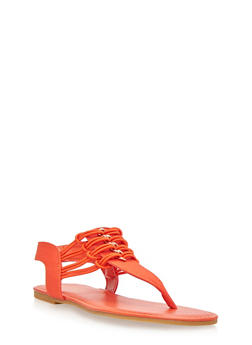 Sandal with Chain Link Embellishments - 1112004067869
