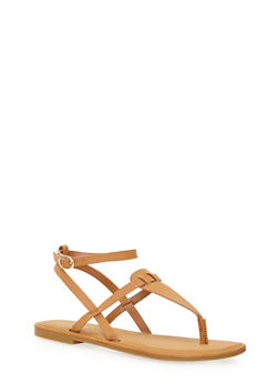 T Strap Sandal with Buckle - 1112004068331