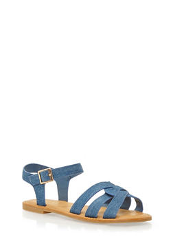 Sandals with Interlocking Straps - 1112004068338