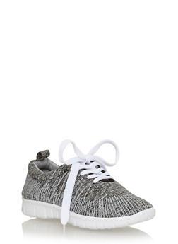 Space Dye Lace Up Running Sneaker - GREY/BLACK - 1112057262633