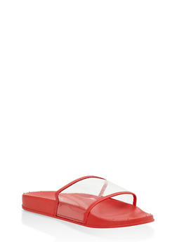 Clear Band Slides - RED - 1112061712242