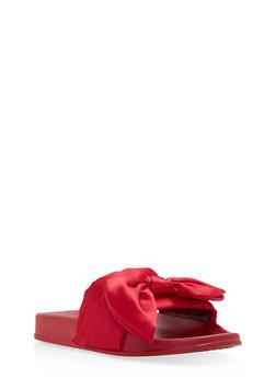 Satin Bow Slides - RED - 1112061717220