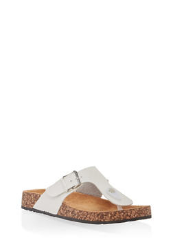 Thong Footbed Sandals - WHITE - 1112062727298