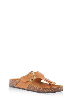 Thong Footbed Sandals - TAN - 1112062727299