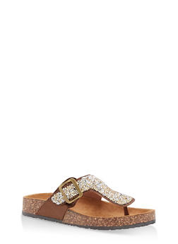 Thong Footbed Sandals - GOLD - 1112062727299