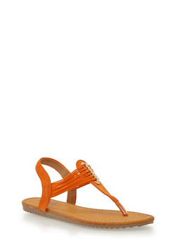 Multi Elastic Strap Thong Sandals - 1112073541734