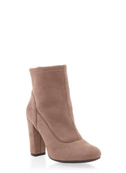 Ankle Boots with Chunky Covered Heels - 1113004064460
