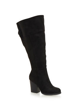Wide Calf Knee High Boots - 1113004065244
