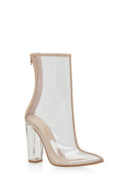 Clear Bootie with Pointed Toe - 1113004068945