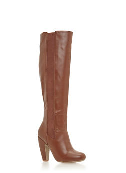 Knee High Boots with Curved Heels - 1113014066604