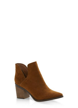 Side Cut Out Booties - 1113065484634