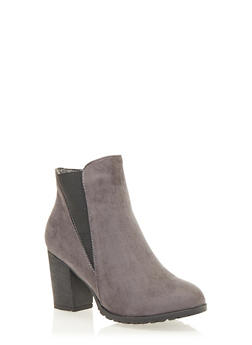 Ankle Boots with Chunky Heel - 1113073113552