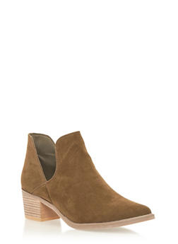 Ankle Boots with Side Cutouts - 1113073117272