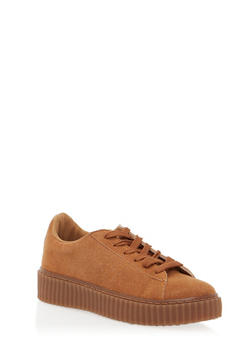 Faux Suede Creepers - 1114049547277