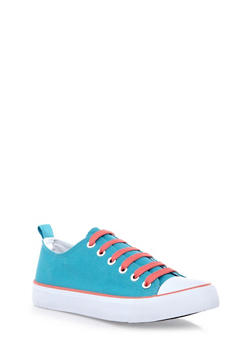 Rubber Sole Canvas Sneakers - 1114062725496