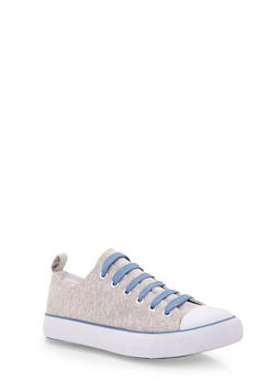 Classic Low Top Tennis Sneakers - GRAY/WHT/BLU - 1114062725498