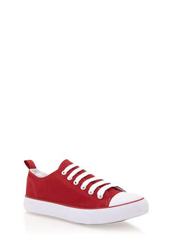 Classic Low Top Tennis Sneakers - RED/RED/WHT - 1114062725498