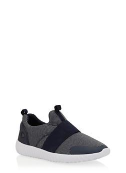 Elastic Strap Slip On Sneakers - 1114070407369