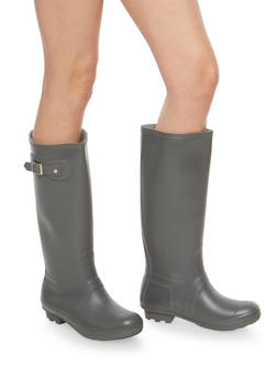Gray Rain Boots - 1115014067233